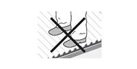 Ne pas marcher plaque PVC ondulée