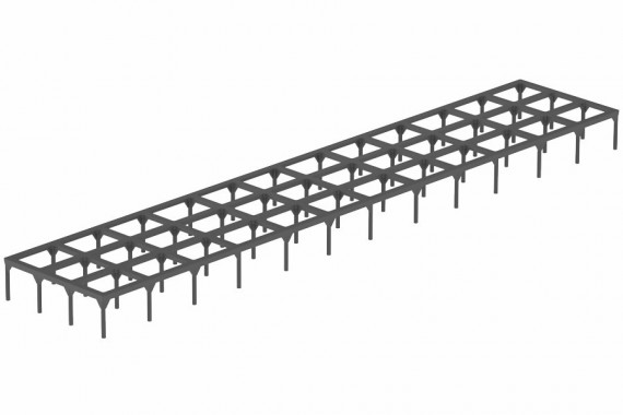 Grille support PVC