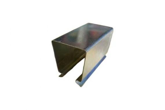 Clips acier pour tube 25 x 25 mm